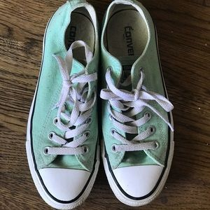 Converse Shoes - Sea foam green Converse size 8 ffd82f1d6
